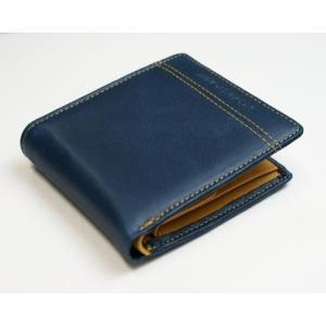 JACQUES POIRIER/ジャックポワリエ 牛革 メンズ 折財布 JP5002/JP-5002 ネイビー _.|vaps
