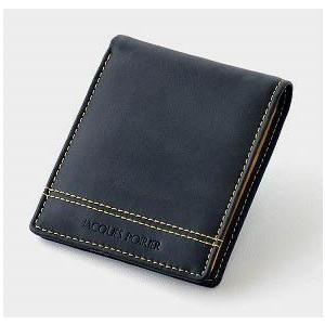 ジャック・ポワリエ 牛革折財布 JP5004 ブラック _|vaps
