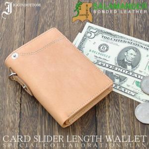 (訳あり)イギンボトム×サラマンダー メンズ レザー 縦型二つ折り財布 限定コラボ IG-704 《ベージュ》 _.|vaps