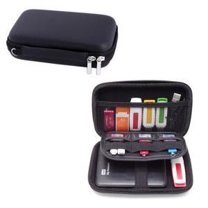 マルチメディア収納バッグ 《ブラック》 ガジェットケース ポーチ SSD ハードディスク メモリーカード USBメモリ ケーブル _ vaps