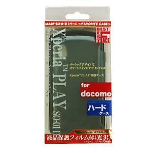 BEST FACE Xperia Pray SO-01D対応ケース MABF-SO01DBS スモークブラック _|vaps