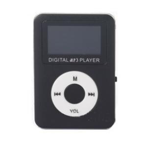 スピーカー搭載 microSD式 MP3プレーヤー DT-SP08 (ブラック) _|vaps