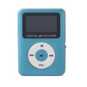 スピーカー搭載 microSD式 MP3プレーヤー DT-SP08 (ブルー)  _|vaps