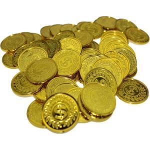海賊アイテム ゴールドコイン 金貨100枚 セット 金貨 メダル チップ 玩具 おもちゃ 海賊王 演劇 小道具 _|vaps