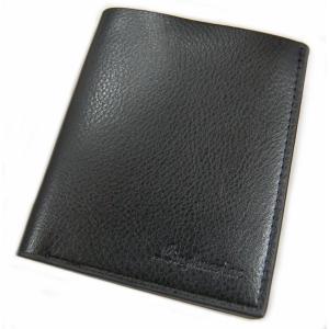メンズ 二つ折り財布 縦型 ブラック レザー調 財布 カード入れ カード収納 札入れ 定期入れ シンプル ビジネス _|vaps
