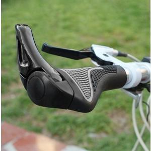 人間工学設計 自転車ハンドル用グリップ 左右セット ブラック マウンテンバイク クロスバイク __|vaps