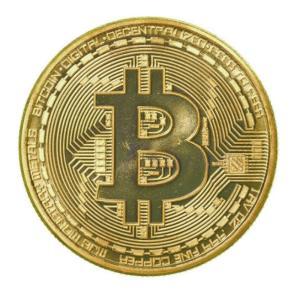 イミテーション ビットコイン bitcoin風 仮装通貨 硬貨 (金) _