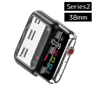 Apple Watch カバー 《Series2》 《38mm》 《ブラック》 アップルウォッチ 保護 ケース _|vaps