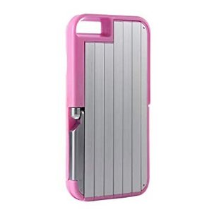 1台3役 iPhone6/6s セルフィーケース 《ピンク》 自撮り棒 スマホケース スマホスタンド  _.|vaps