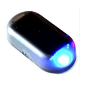 ソーラーアラーム ダミー セキュリティ ライト 車用 車載 防犯 点灯 太陽光充電 (青) _|vaps