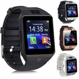 スマートウォッチ タッチパネル 多機能 Bluetooth 腕時計 カメラ搭載 通話 ボイスレコーダー (ブラック) _
