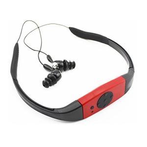 防水 MP3プレイヤー 《レッド》 完全防水型 プール 音楽プレイヤー 防水等級 IPX8 水中 3m _|vaps