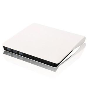 外付け ポータブルDVDドライブ 《ホワイト》 USB3.0 ノートパソコン _.|vaps