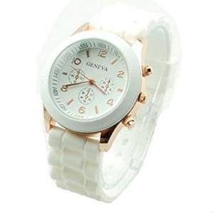 レディース 腕時計 時計  シリコンベルト 《ホワイト》 シンプル _|vaps