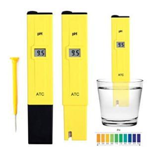 ペーハー計測器03 《イエロー》 デジタルPH計 水素イオン指数 熱帯魚 水槽 液体肥料 _. vaps