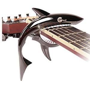 ギター用 サメ形 カポタスト 《ブラック》 スチール製 金属製 鮫 シャーク カポK _. vaps