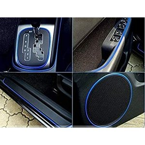 車用 カーデコレート 《ブルー》 外装 内装 ドレスアップ 愛車 カラーモール 高級感 カット可能 _|vaps