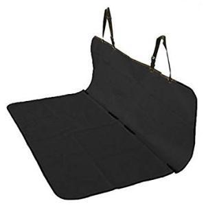 車載 ペット用 防水シートカバー 後部座席用 143×132cm フリーサイズ (ブラック) __
