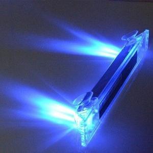 車用 ソーラー 警告灯 ライト 《ブルー》 ソーラー充電 光センサー 振動センサー 追突防止 衝突防止 車間距離 _|vaps