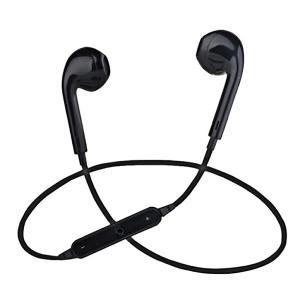 HAPPY ニューイヤフォン 《ブラック》 Bluetooth マイク付き イヤホン iPhone Android 無線 通話 _|vaps