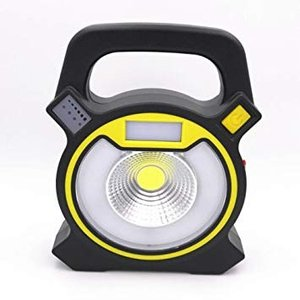 充電式 警告灯付き LED投光器 IP66 防水 懐中電灯 緊急ライト 防災 照明 __|vaps