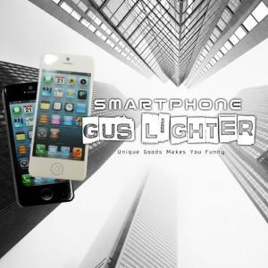 スマホ型 ガスライター 《ブラック》 栓抜き搭載 スマートフォン型 面白ライター SMALIGHTER _ vaps