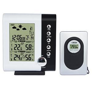 無線 キャッツアイ 温湿度計 目覚まし時計 天気 カレンダー 置時計  __ vaps