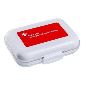 2段分割 ピルケース 《レッド》 携帯 薬入れ 小物 小分け 薬ケース 収納ケース _|vaps