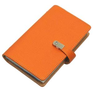 名刺ホルダー 240枚収納 《オレンジ》 名刺入れ カードホルダー カードケース ビジネス シンプル PUレザー 名刺ファイル 大容量 __ vaps