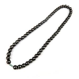 磁気ネックレス ヘマタイト レディース ブラック ネックレス _ vaps