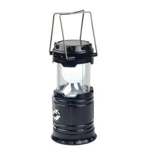 伸縮式 LEDソーラーランタン ソーラー充電式 (ブラック) __|vaps
