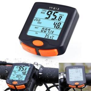 サイクル無線マシン 自転車用 ワイヤレス 多機能 バイク コンピュータ 走行 距離計 速度計 計測 _|vaps