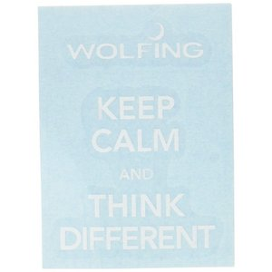 WOLFING アートステッカー スキンシール Keep Calm and Think Different ホワイト iPhone7 167 _|vaps