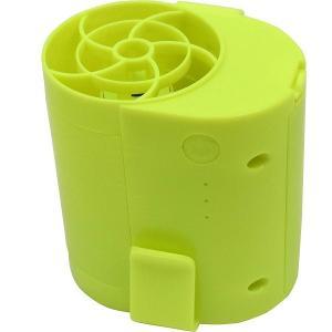 USB充電式 扇風機 ベルトファン 《グリーン》 大容量バッテリー2本付 軽量 小型 携帯ファン 熱中症対策 __|vaps