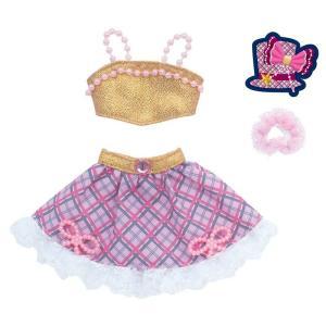 リカちゃん ドレス 原宿ガールズスクールコーデドレスセット GIRLS CHECK ゴールド 着せ替え きせかえ _ vaps