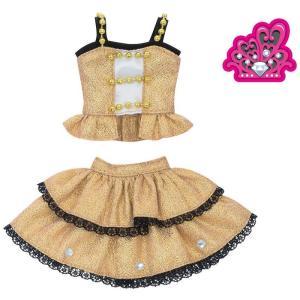 リカちゃん ドレス 原宿ガールズスクールコーデドレスセット DIAMOND QUEEN ゴールド 着せ替え きせかえ _ vaps
