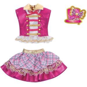 リカちゃん ドレス 原宿ガールズスクールコーデドレスセット GIRLS CHECK ピンク 着せ替え きせかえ _ vaps