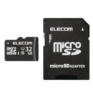 エレコム microSDHCカード 32GB UHS-I対応 Class10 防水 IPX7 New NINTENDO 3DS動作確認済み MF-HCMR32GU11 _|vaps