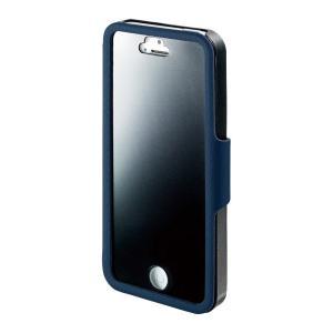 I-O DATA iPhone 5/5s用 のぞき見防止フィルム一体型プライバシーケース ブルー ISC-IP5/PVB _|vaps