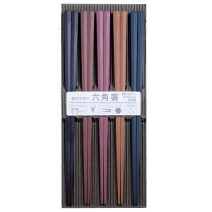 サンライフ 来客用箸 彩り六角PBT箸 23cm 5膳セット 316450 _.|vaps