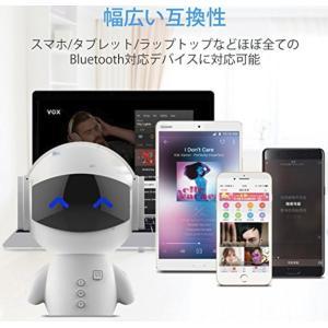 Bluetoothスピーカー ロボット ワイヤレススピーカー  TFカード対応 ブルートゥース アウ...