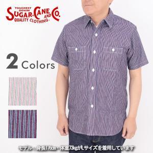 SUGAR CANE シュガーケーン SC37314[r6s]TWILL STRIPE ワーク シャツ 半袖