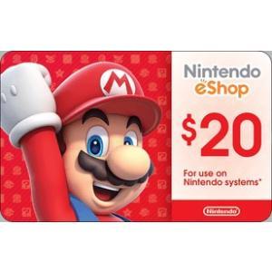 北米版(米国版) Nintendo eShop カード $20