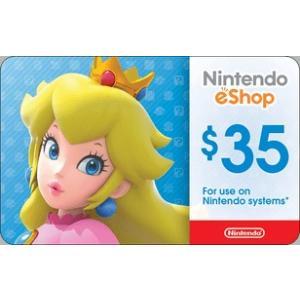 北米版(米国版) Nintendo eShop カード $35