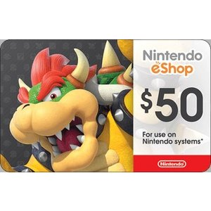 北米版(米国版) Nintendo eShop カード $50