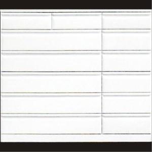 チェスト ハイチェスト タンス 幅150 6段 ホワイト 鏡面 長引き出し ワイド スライドレール付き つや有り 光沢あり 収納 姫系 おしゃれ 完成品|variefurni