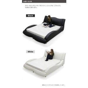 ベッド ダブル マットレス付き 合皮レザー モダン おしゃれ Design Bed|variefurni|02
