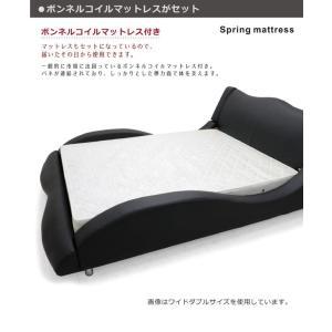 ベッド ダブル マットレス付き 合皮レザー モダン おしゃれ Design Bed|variefurni|07