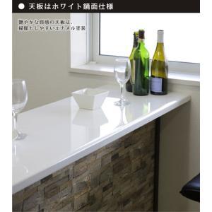 バーカウンター ホームバー 幅150 ストーン柄 ブラウン 日本製 variefurni 02