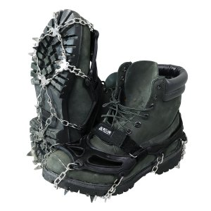 VASTLAND アイゼン スノー スパイク 19本爪 チェーン 滑り止め M〜XLサイズ 登山 雪山 収納袋付き|vastland